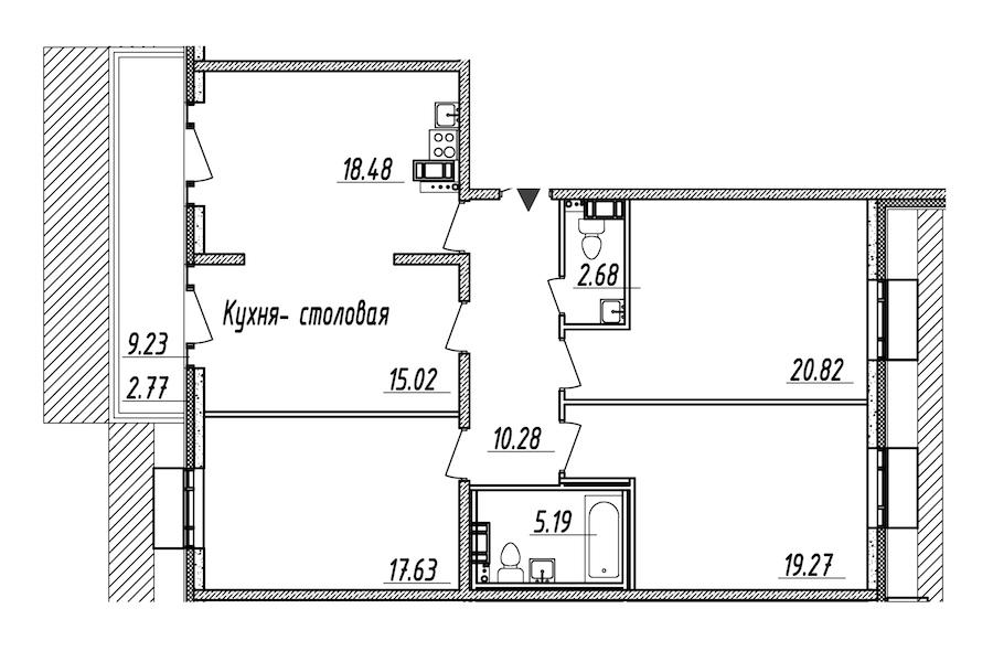 4-комнатная 112 м<sup>2</sup> на 10 этаже