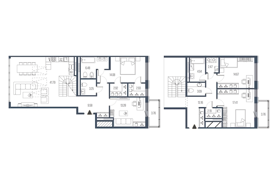 4-комнатная 152 м<sup>2</sup> на 7 этаже