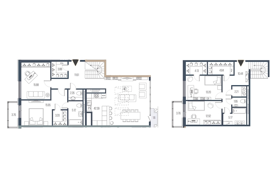 4-комнатная 155 м<sup>2</sup> на 7 этаже
